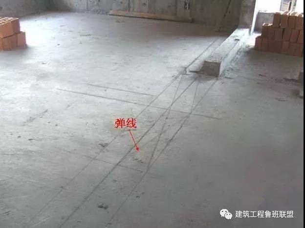 资讯中心 >  施工管理  来源:建筑工程鲁班联盟 1,基层验收,墙体放线